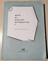 Note di Analisi Matematica 1 - Alberto Berretti - UNIVERSA