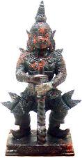 THAI GIANT GUARDIAN KING VESAVANA CARVING FIGURINE: HAND- CRAFTED MAGNET JASPER