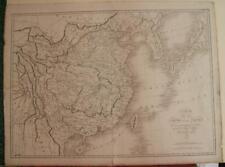 CHINA KOREAN PENINSULA TAIWAN JAPAN 1821 TARDIEU ANTIQUE COPPER  ENGRAVED MAP