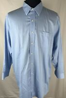 Brooks Brothers Mens Button Down Shirt Size 17 1/2 - 2/3 Blue White Striped