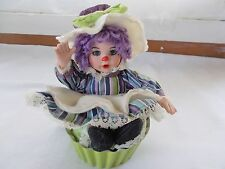 Marie Osmond Oatmeal Raisin Rag A Muffin Doll COA + Doll Necklace Muffin Cup
