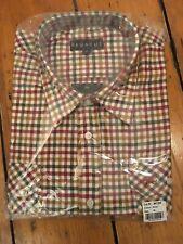 Pegasus Men's Brushed Cotton Check Shirt XL /  Wine