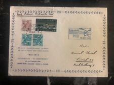 1948 Zurich Switzerland First Day Cover FDC 25 Years Of The Airmail