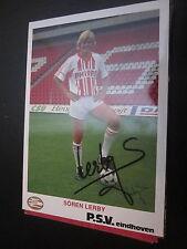 17068 Sören Lerby Dänemark WM Bayern München original signierte Autogrammkarte