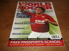 Football Magazin World Soccer März 2001 Palermo Kamerun Club Brugge Totti