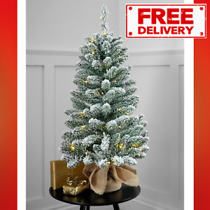 3ft Pre-Lit Snowy Christmass Tree