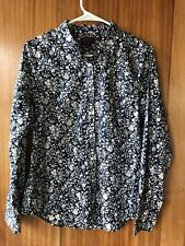 J Crew Liberty London Art Fabrics Blouse Shirt Top Floral Print Button Front 8
