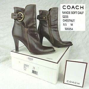 COACH NANCIE Brown SOFT CALF LEATHER BOOT STYLE 920254 SIZE US 8.5 ORIGINAL BOX
