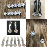 Hair Sleepies Rhinestone Bling Bridal Clip Slide Style Shiny Snap Grip Bendies
