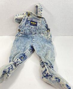 Vintage Oshkosh Vestback Baby Overalls Acid Wash Denim Size 6/9 Months USA  A
