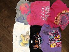 Girls Summer Clothing Size 7/8 Lot of 6 Shirts / Justice TCP Disney EUC