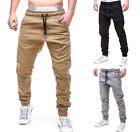Mens Sport Pants Long Trousers Tracksuit Gym Fitness Workout Joggers Sweatpants