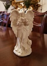 """Matte White Bisque """"Singing Angel"""" Holiday / Christmas Figurine"""