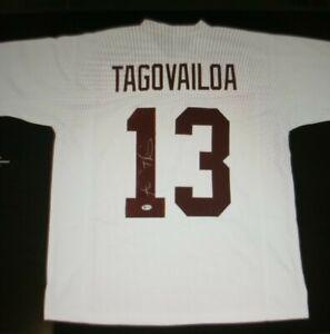 Tua Tagovailoa Autographed Alabama Jersey Signed Beckett Authenticated
