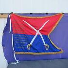 Beautiful Hand Done General Custer HQ Civil War Reenactment battle flag/guidon