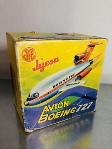 JYESA TIN TOY BOEING 727 AVION MADE IN SPAIN  NEW!!!!