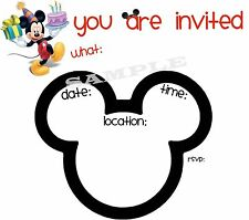 Mickey Mouse Party Invitations with matching envelopes, 12 Pack