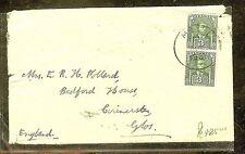 SARAWAK (P1106B) 1931 3C GREEN PR ON COVER TO ENGLAND FAMILY POLLARD!!!!