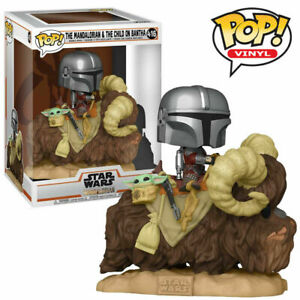 STAR WARS THE MANDALORIAN & THE CHILD ON BANTHA POP VINYL FIGURE FUNKO 416