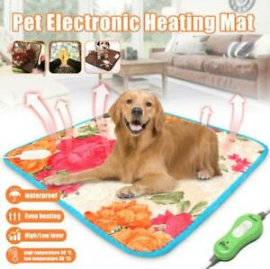 Pet Heating Pad for Cats Dogs Waterproof Electric Mat Adjustable Warming Mat