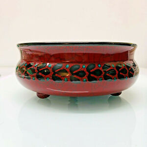 Seltene Müslischale Polka Dots Wächtersbach rot weiss Bowl Schüssel 2.W Keramik