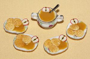 Kartoffelpuffer und Apfelmus für 4 Personen /Puppenküche*Miniatur 1:12 by BP*