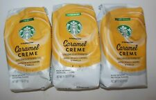 3 Bags 11oz Starbucks Caramel Creme Coffee New