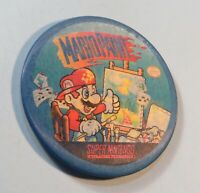 1992 Nintendo Official Employee Pin Badge Promo Button SNES Mario Paint Ask Me