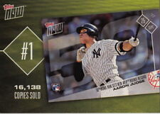 2018 Topps Baseball Cards Series 1- Now Top 10 - Aaron Judge TN-1, NEW, MINT
