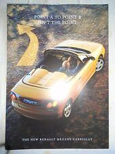 Renault Megane Cabriolet brochure Dec 1997
