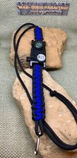 Paracord Neck ID Lanyard Badge Holder Adjustable w/ Retractable Clip Handmade