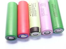5 batterie 18650 3400/3500 mAh lg/sanyo/sony/samsung/panasonic flat