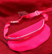 FANNY PACK Neon Pink Dry Fit Mesh Waist Bag Travel Purse Hip Belt Carry On Pouch