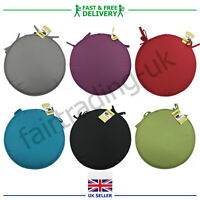 New Round Cushion Seat Pads Circular Bistro Pads Kitchen Dining Chair 11 Colours