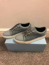 Mens Lanvin Suede Calfskin Sneaker Trainer Blue UK 9 EU 43