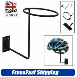 Motorcycle Helmet Iron Stand Holder Hanger Rack Wall Mounted Hook for Hat Cap UK