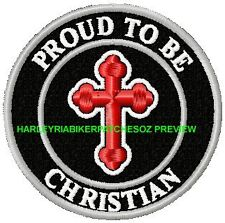 PROUD TO BE A CHRISTIAN BIKER PATCH