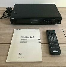 Sony MDS-JE510 Mini Disc Player Including Remote Control and Instruction Manual