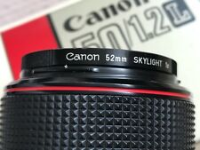 Canon FD 50mm f1.2 L Lens +Genuine BS-52 hood +Canon UV Filter +ND +Original Box