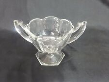 1930's Art Deco Trophy Shaped Chippendale Glass Sugar Bowl