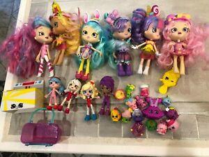 Shopkins- 6 Shoppies Dolls,  4 Mini's & 15 Shopkins