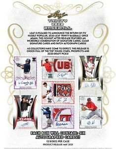 2020 Leaf Trinity Baseball Hobby Box (Presell) 05/10/21