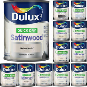 Dulux - Quick Drying Satinwood Paint For Wood & Metal - All Colours - 750ml