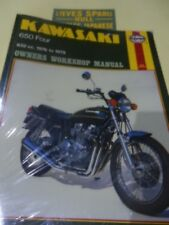 KAWASAKI KZ650B1,  MODELS    ,HAYNES WORKSHOP  MANUAL . No 373  .