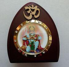 God Statue wooden car dashboard Open heart Hanuman study work Hindu  idol
