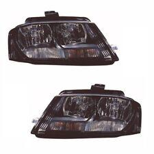 For Audi A3 Mk3 2009 Headlights Headlamps Lighting Black 1 Pair O/S & N/S