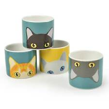 Doris Gato China eggcups-creaturewares Serie Por Burgon and Ball