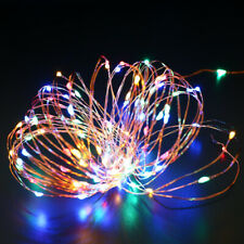 100Led Solar String Lights Copper Wire Rope Xmas Tree Party Fairy Decor 2 Pack