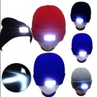 5 LED Light Cap Knit Beanie Hat FOR Outdoor Hunting Camping Fishing Running nEW