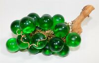 Vintage Lucite Acrylic Green Grape Cluster Mid Century Modern Decor Driftwood